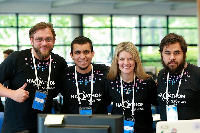 Equipe vencedora da edição do Haqathon Quantum | Foto: Fernando Dias